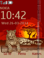 Leopard In Africa theme screenshot