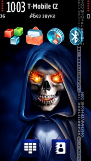 Death Gothic Skeleton tema screenshot
