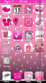 Hello Kitty 50 es el tema de pantalla