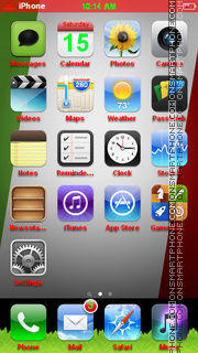 Italy Flag 04 tema screenshot