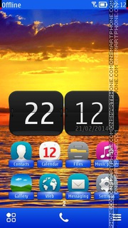Sunset In Australia tema screenshot