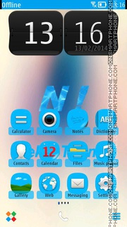 Blue Nokia 02 theme screenshot