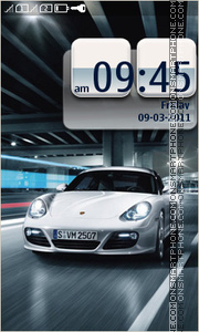 Speed Porsche theme screenshot