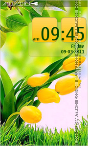 Bright Tulips Spring Day theme screenshot