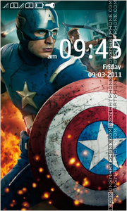 Captain America 11 theme screenshot