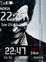 Joker from Batman Comics theme screenshot