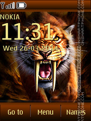 Wild Tiger 02 theme screenshot
