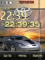 Скриншот темы Toyota Celica 03