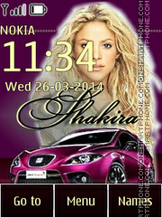 Shakira and Seat theme screenshot