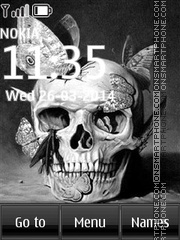 Gothic Skull tema screenshot