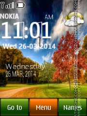 Park Live Clock tema screenshot