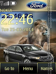 Ford Taurus and Woman theme screenshot