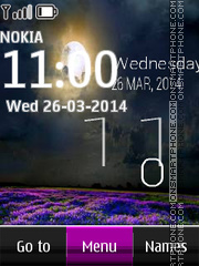 Twilight Digital Clock tema screenshot