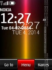 Sony Xperia Digital Clock 01 theme screenshot