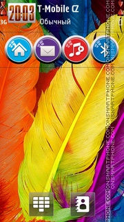 Feathers HD tema screenshot