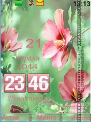 Скриншот темы Tenderness flower