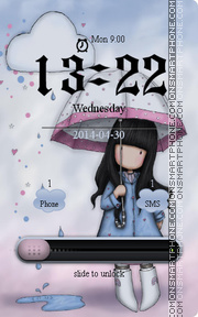 Скриншот темы Rain