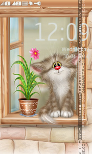 Cat in the window theme screenshot