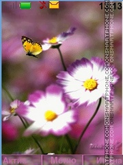 Flower+Butterfly Theme-Screenshot