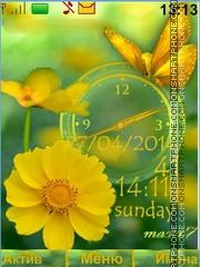 Скриншот темы Flower Butterfly