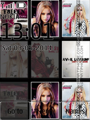 Avril Lavigne tema screenshot