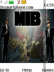 Men In Black theme screenshot