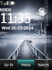 England Lake Live Clock tema screenshot