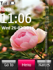 Pink Rose 05 tema screenshot