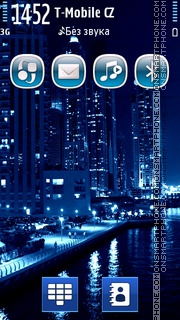 Blue Singapore City theme screenshot