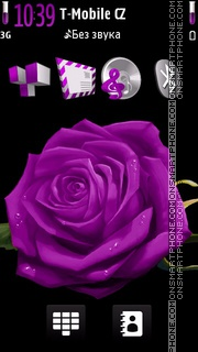 Скриншот темы Violet Rose 03