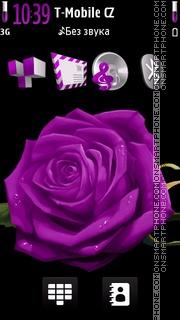 Violet Rose 03 es el tema de pantalla