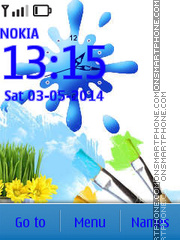 Bright World Clock tema screenshot