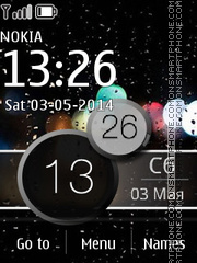 Bokeh Clock theme screenshot