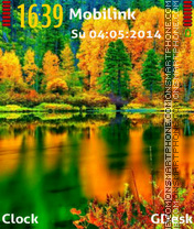 Colours of nature theme screenshot