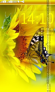 Sunflower & ButterfLy Theme-Screenshot