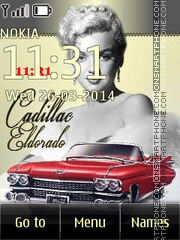 Скриншот темы Marilyn Monroe and Cadillac