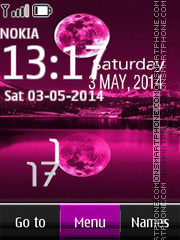 Purple Moon Digital Clock 01 theme screenshot