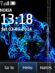 Neon Tiger 02 theme screenshot