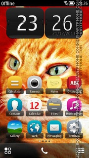 Ginger Cute Cat theme screenshot