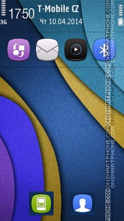 Layers Stripes tema screenshot