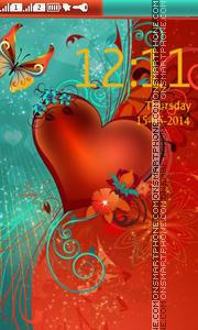 Love Heart tema screenshot