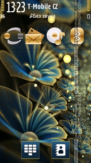 Blue Flowers 04 theme screenshot