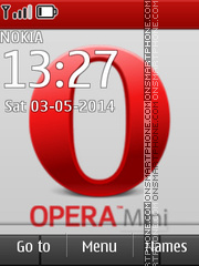 Opera Mini 03 tema screenshot