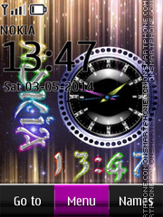 Nokia Dual Clock 11 theme screenshot