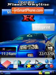 Nissan Skyline Gtr es el tema de pantalla