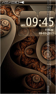 Abstract Brown Patterns theme screenshot