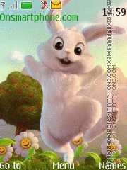 Funny bunny tema screenshot