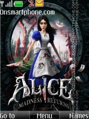 Alice Madness Returns es el tema de pantalla