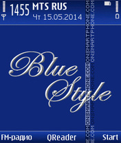 Blue Style theme screenshot