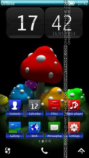 Amanita Mushrooms HD tema screenshot